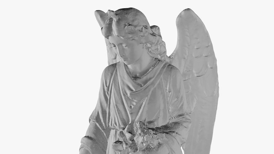 Statua anioła royalty-free 3d model - Preview no. 29