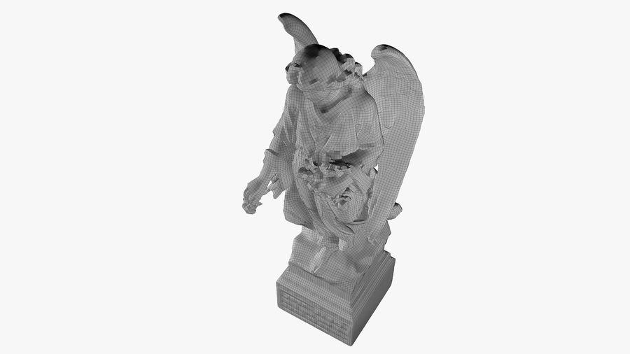 Statua anioła royalty-free 3d model - Preview no. 59