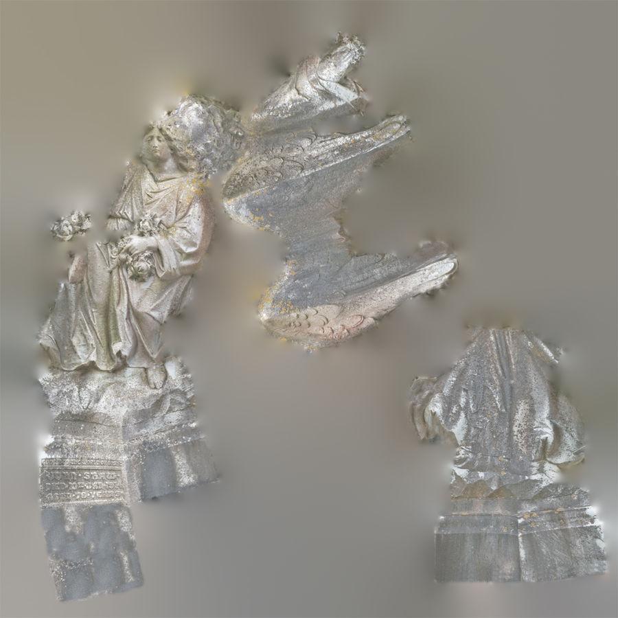 Statua anioła royalty-free 3d model - Preview no. 73