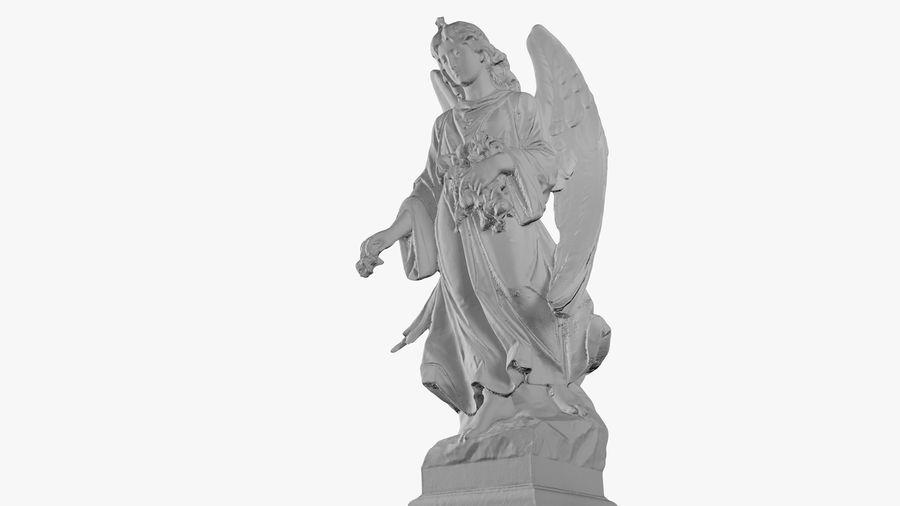 Statua anioła royalty-free 3d model - Preview no. 42