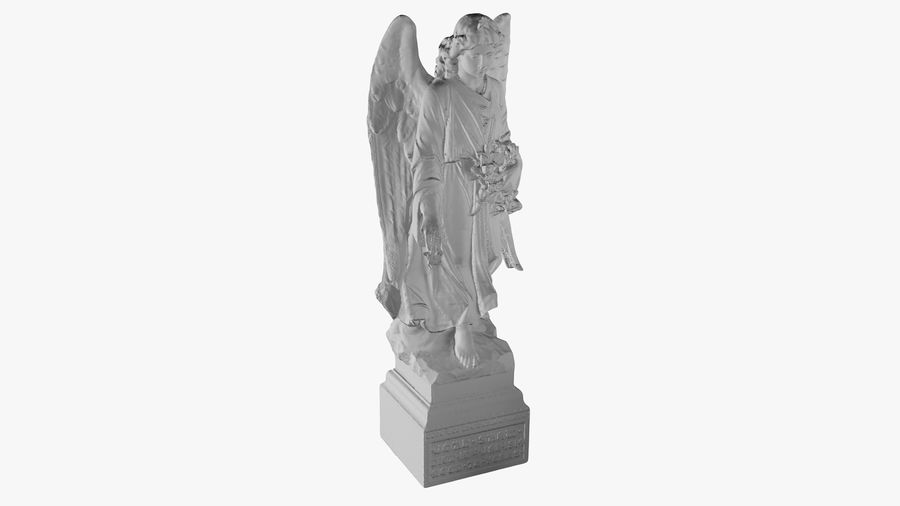 Statua anioła royalty-free 3d model - Preview no. 28