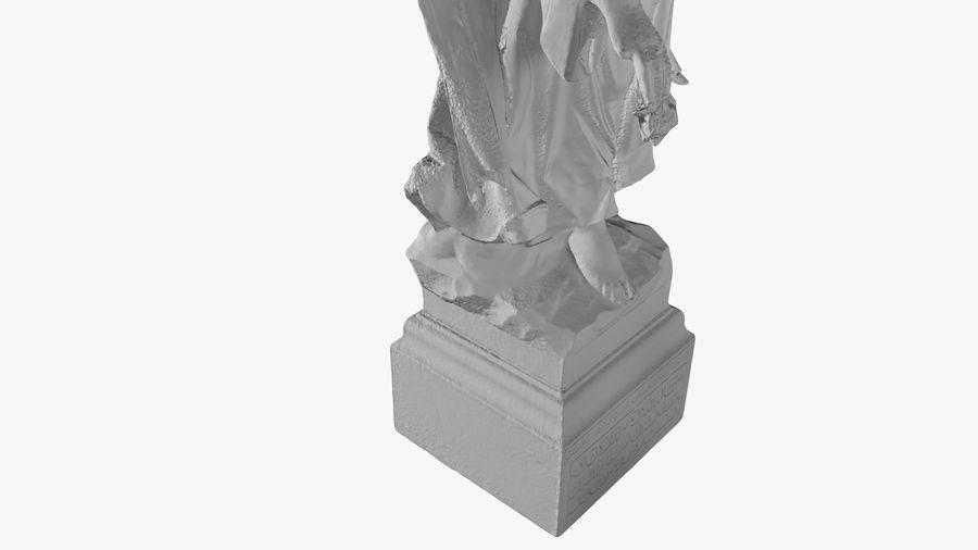 Statua anioła royalty-free 3d model - Preview no. 38