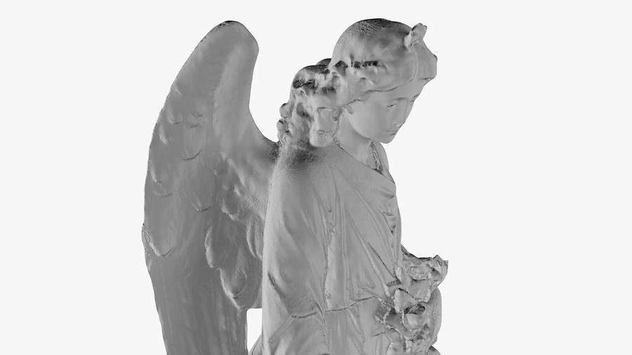 Statua anioła royalty-free 3d model - Preview no. 32