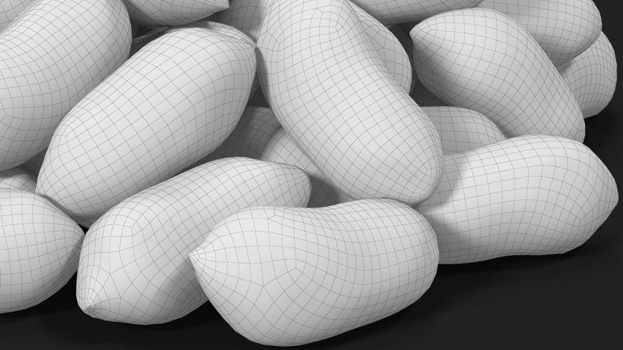 Peanuts Seed royalty-free 3d model - Preview no. 24