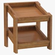 Drewniana półka na towary 02 3d model