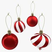 Zestaw ozdób świątecznych bali 3d model