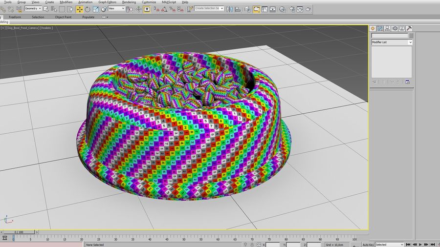 Dog Bowl with Food royalty-free 3d model - Preview no. 15