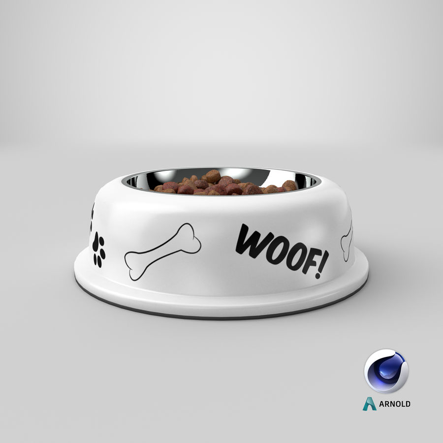 Dog Bowl with Food royalty-free 3d model - Preview no. 28