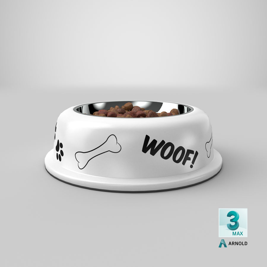 Dog Bowl with Food royalty-free 3d model - Preview no. 31