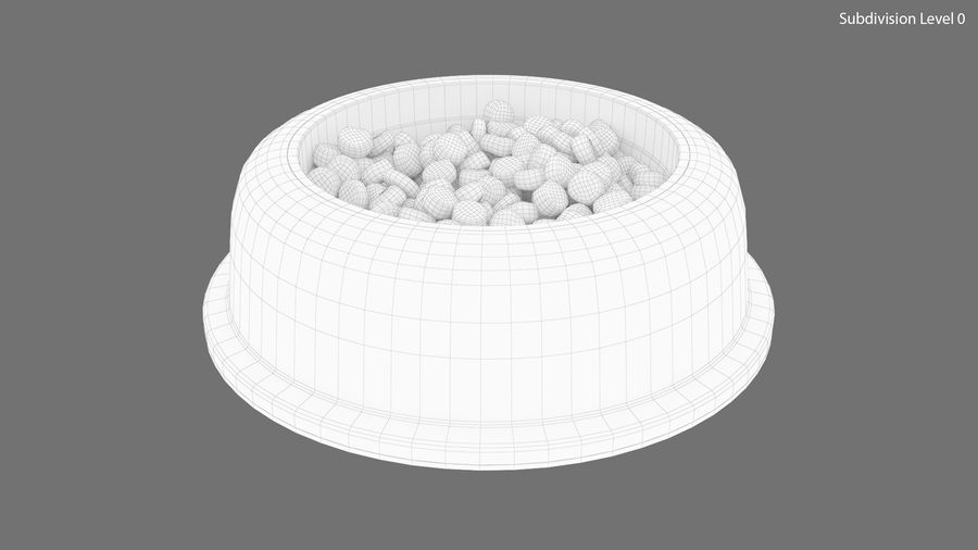 Dog Bowl with Food royalty-free 3d model - Preview no. 16