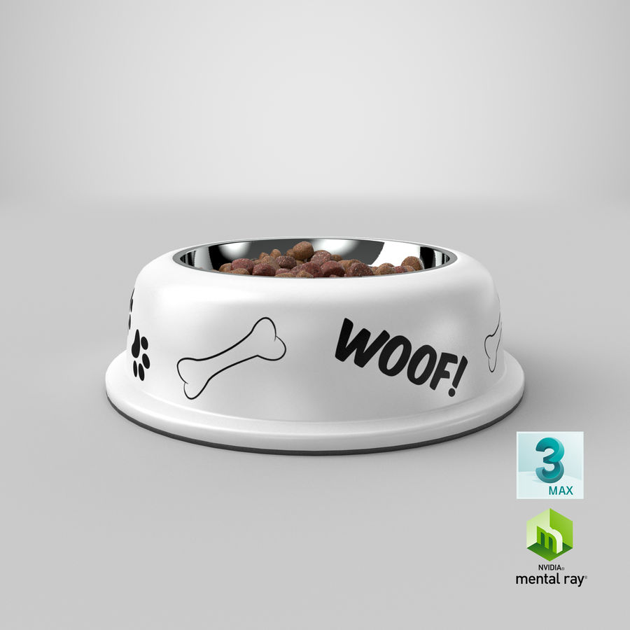 Dog Bowl with Food royalty-free 3d model - Preview no. 32