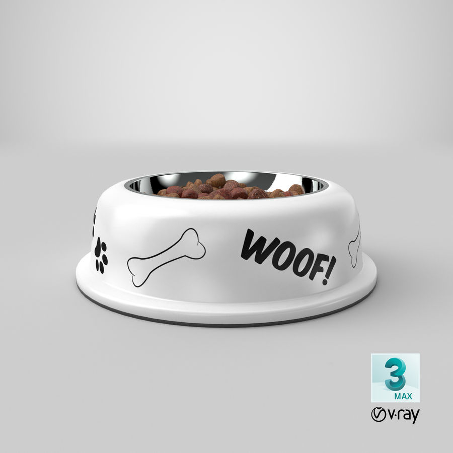 Dog Bowl with Food royalty-free 3d model - Preview no. 33
