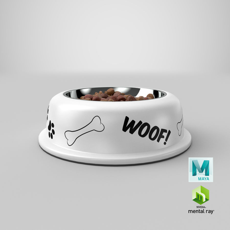 Dog Bowl with Food royalty-free 3d model - Preview no. 35