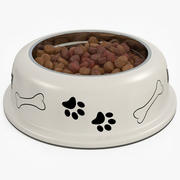 Dog Bowl with Food 3d model