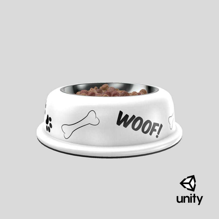 Dog Bowl with Food royalty-free 3d model - Preview no. 29
