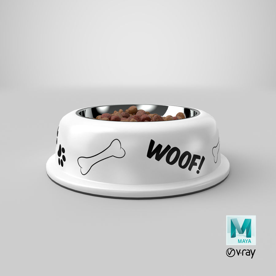 Dog Bowl with Food royalty-free 3d model - Preview no. 36
