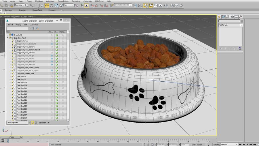 Dog Bowl with Food royalty-free 3d model - Preview no. 14
