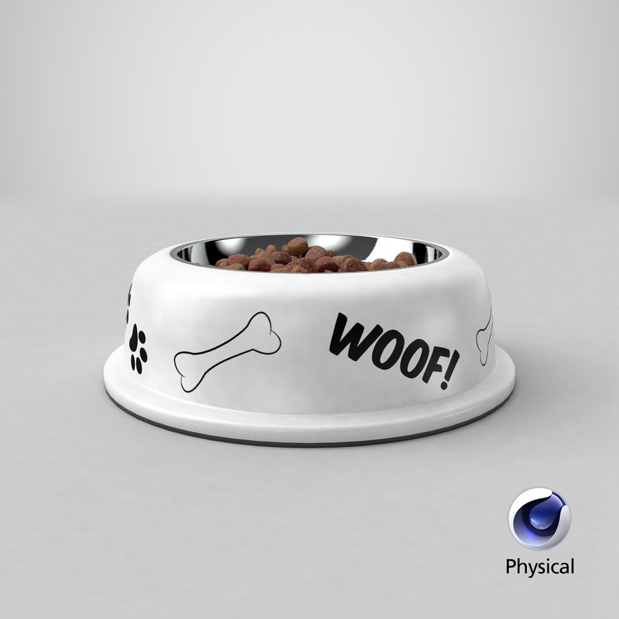 Dog Bowl with Food royalty-free 3d model - Preview no. 27