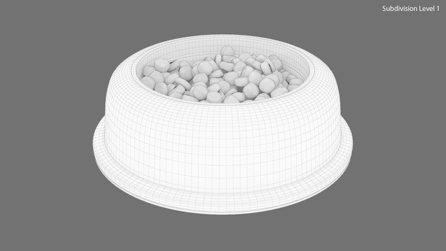 Dog Bowl with Food royalty-free 3d model - Preview no. 17
