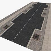 Street Fragment Asphalt 3d model