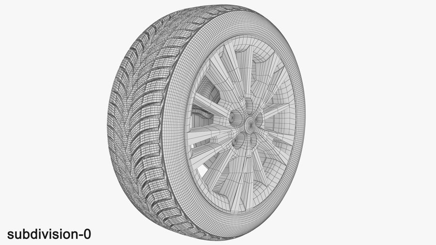 CAR WHEEL royalty-free 3d model - Preview no. 3