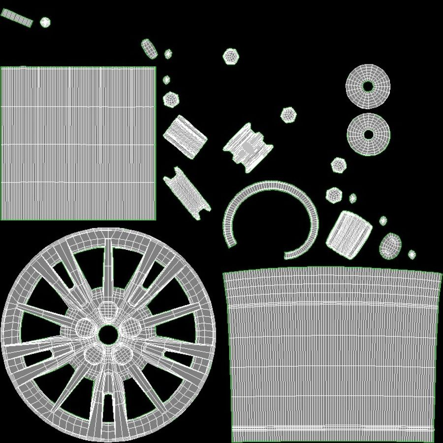 CAR WHEEL royalty-free 3d model - Preview no. 14