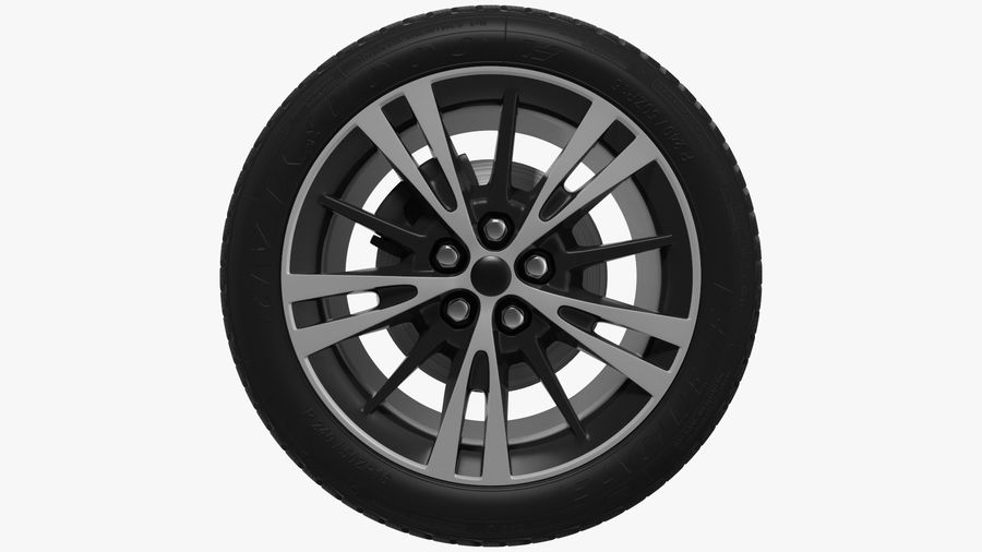 CAR WHEEL royalty-free 3d model - Preview no. 8