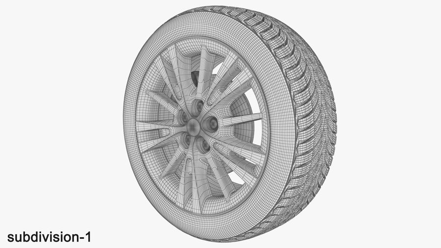 CAR WHEEL royalty-free 3d model - Preview no. 11