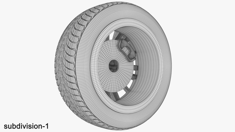 CAR WHEEL royalty-free 3d model - Preview no. 13
