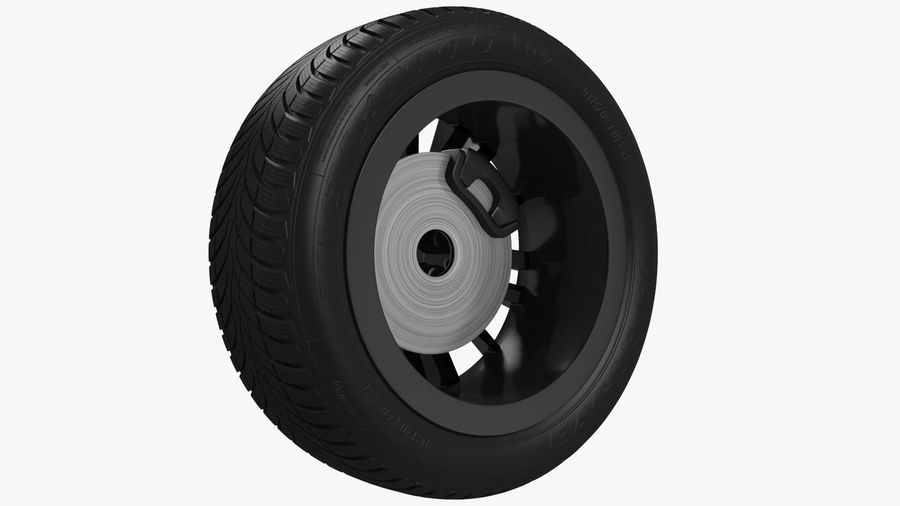 CAR WHEEL royalty-free 3d model - Preview no. 12