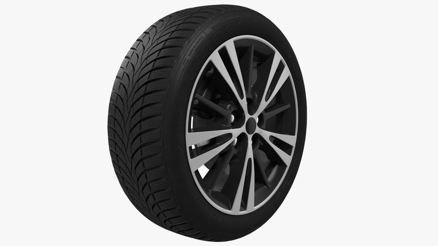 CAR WHEEL royalty-free 3d model - Preview no. 2
