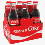 Coca Cola Bottle Package 3d model