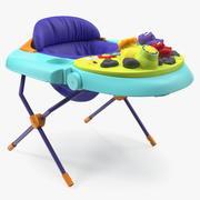 Asiento de bebe con juguetes modelo 3d