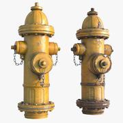 Yangın Hidrant Sahnesi 3d model