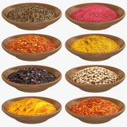 Spice Bowl Collection 3d model