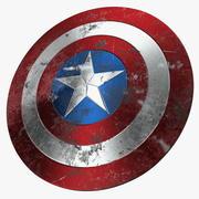 Captain America Damaged Shield 3d model