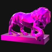 lowpoly lion 3d model
