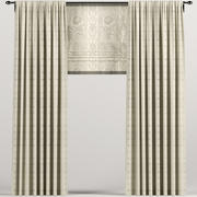 Beige Roman curtains 3d model