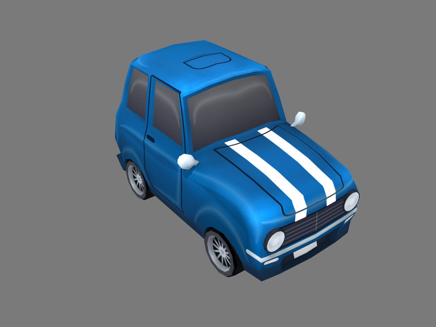 Coche de dibujos animados royalty-free modelo 3d - Preview no. 5