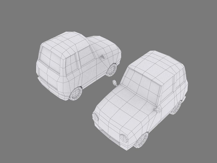 Coche de dibujos animados royalty-free modelo 3d - Preview no. 7