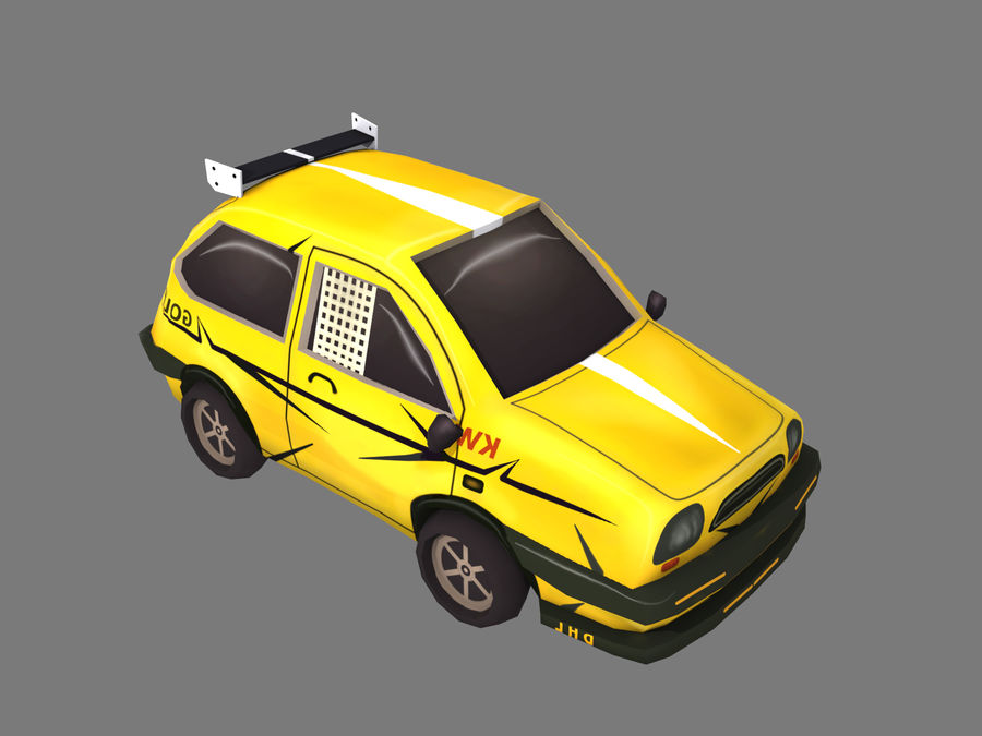 Мультфильм автомобиль royalty-free 3d model - Preview no. 5