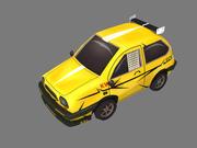 만화 자동차 3d model