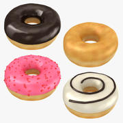 Ring Donut Collection 3d model