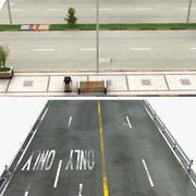 Road and Sidewalk 3d model