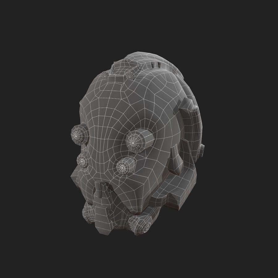 Helmet combat military Scifi royalty-free 3d model - Preview no. 5