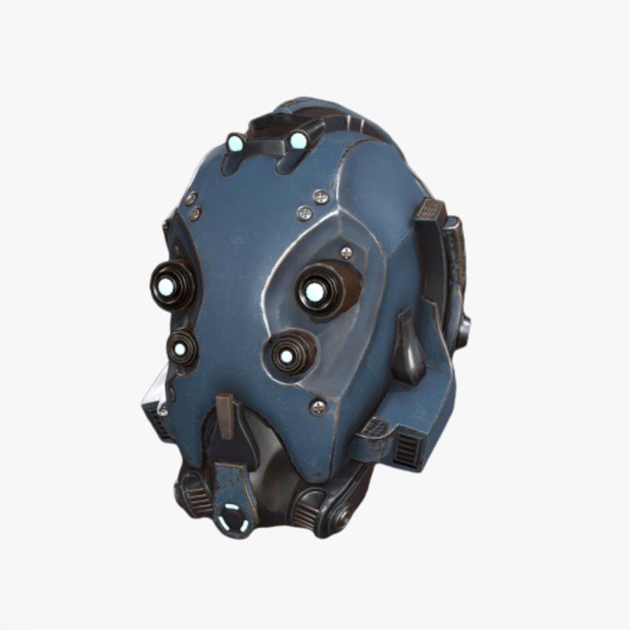 Helmet combat military Scifi royalty-free 3d model - Preview no. 1