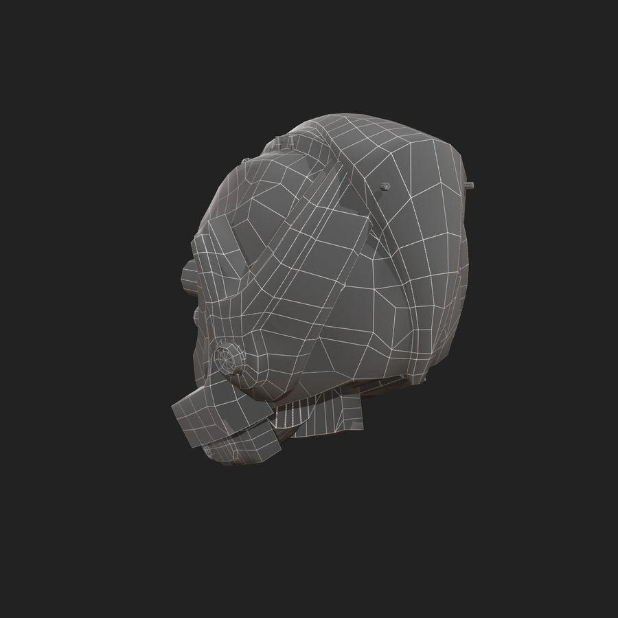 Helmet combat military Scifi royalty-free 3d model - Preview no. 6