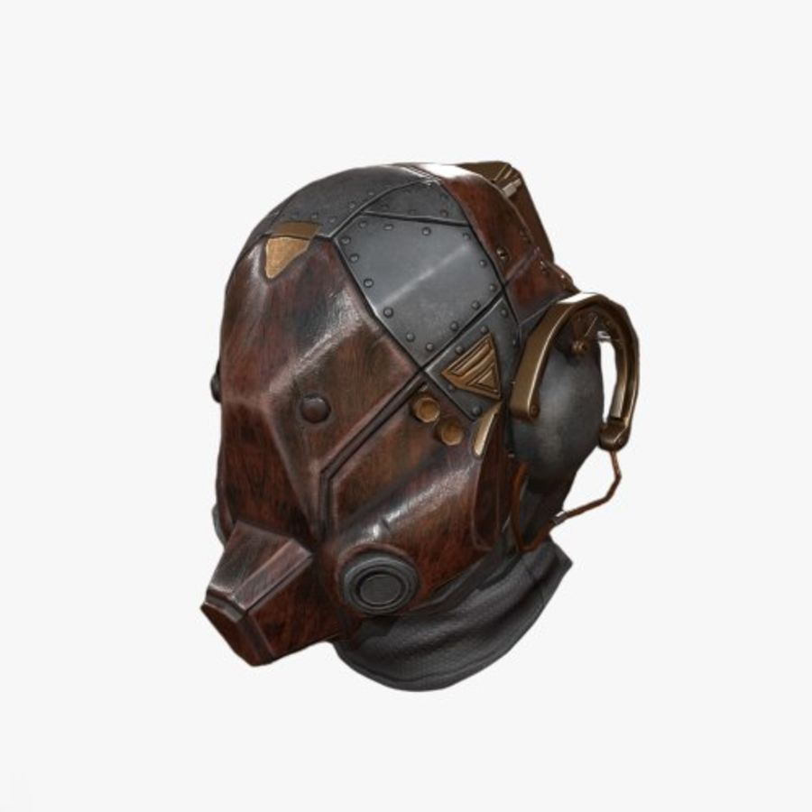 Helmet scifi military combat royalty-free 3d model - Preview no. 1