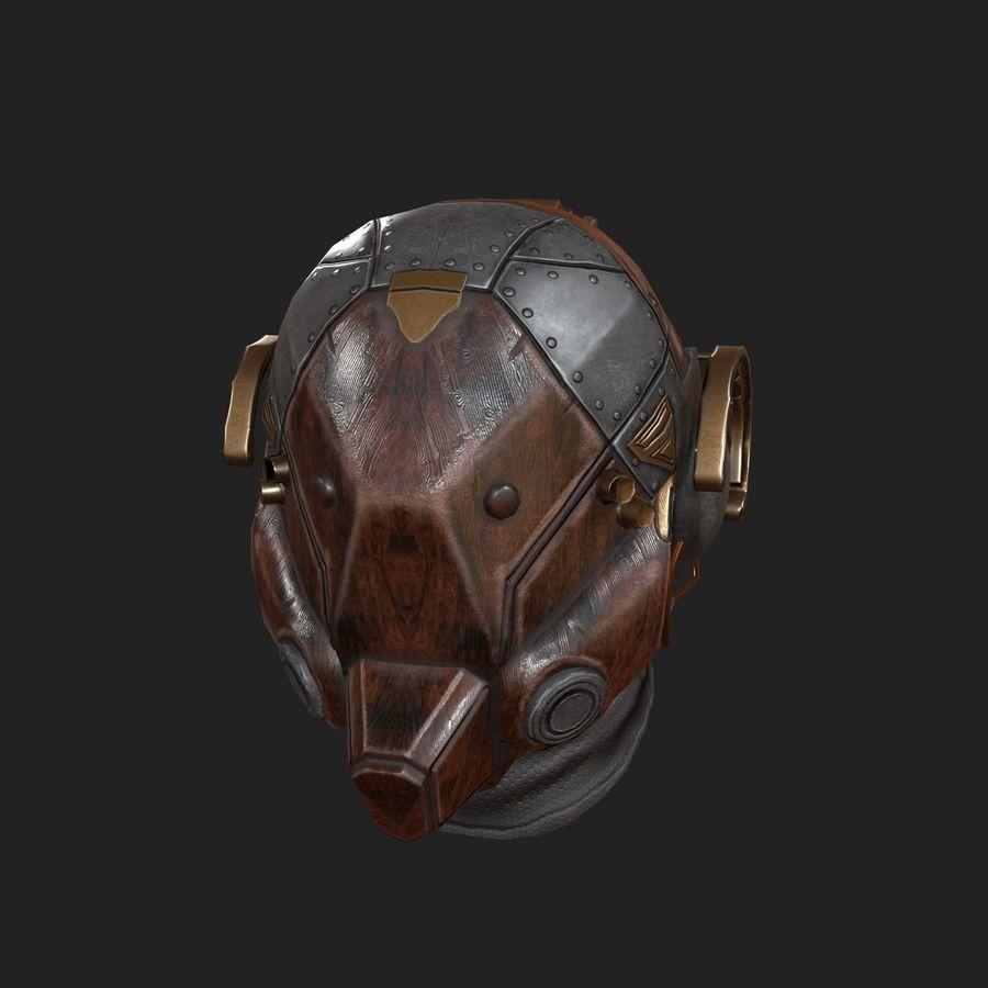 Helmet scifi military combat royalty-free 3d model - Preview no. 3