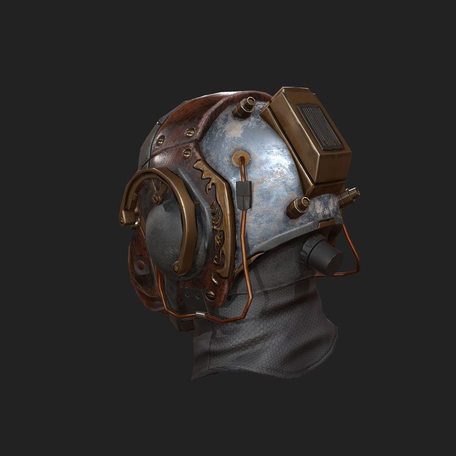 Helmet scifi military combat royalty-free 3d model - Preview no. 4